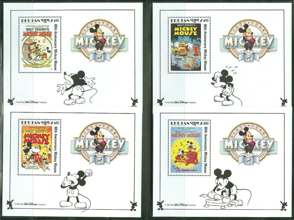 Best ideas about Mickey's Birthday Party . Save or Pin BHUTAN DISNEY MICKEY S 60th BIRTHDAY SCOTT 701 12 SOUVENIR Now.