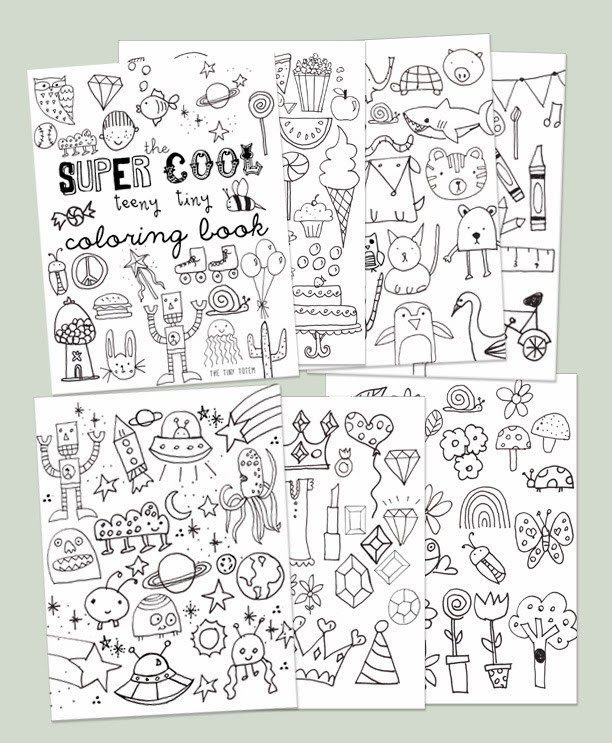 Best ideas about Mini Adult Coloring Books . Save or Pin Printable Mini Coloring Book Now.