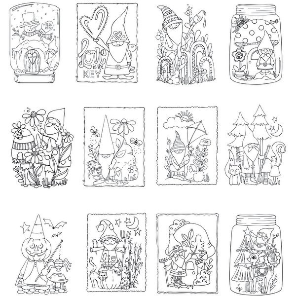 "Best ideas about Mini Adult Coloring Books . Save or Pin Shop ArtPlay Watercolor Paper Mini Coloring Book 4""X6"" 12 Now."