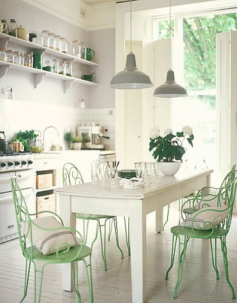 Best ideas about Mint Green Kitchen Decor . Save or Pin Shabby Chic White and Mint Kitchen Interiors By Color Now.