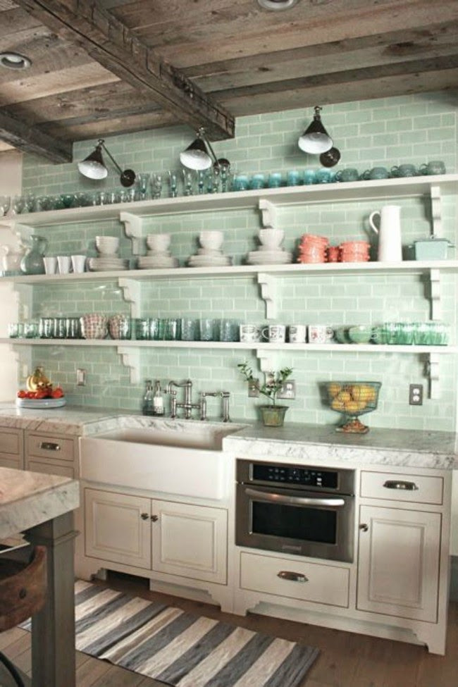 Best ideas about Mint Green Kitchen Decor . Save or Pin Stranger Than Vintage Interior Design Mint Green Kitchens Now.