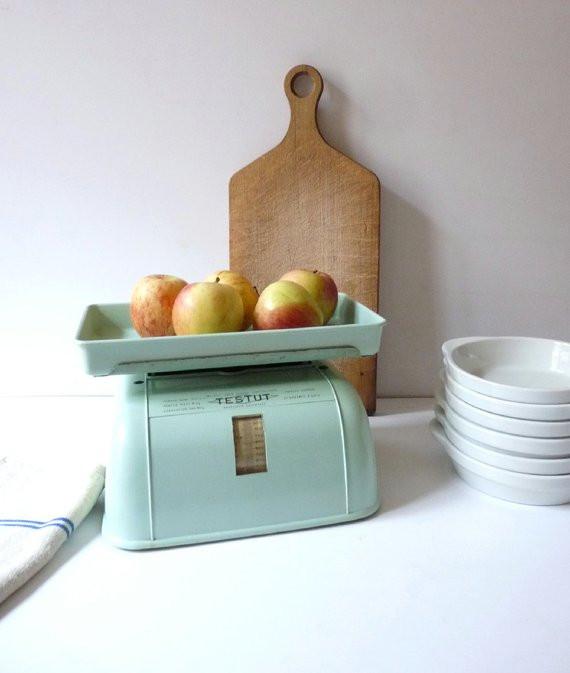 Best ideas about Mint Green Kitchen Decor . Save or Pin Vintage Kitchen Scale Mint Green Kitchen Decor Now.