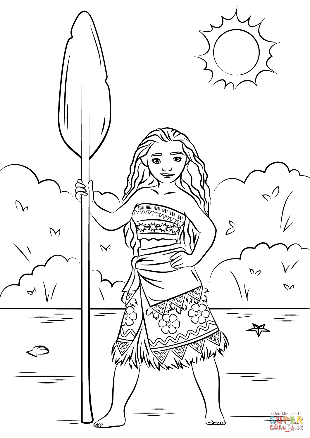 Best ideas about Moana Free Coloring Sheets . Save or Pin Princess Moana coloring page Now.