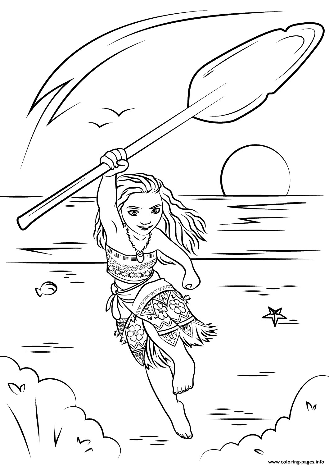 Best ideas about Moana Free Coloring Sheets . Save or Pin Moana Coloring Pages Coloring Home Now.