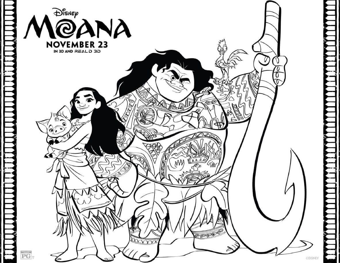 Best ideas about Moana Free Coloring Sheets . Save or Pin Moana Coloring Pages Free Printables From Disney Now.