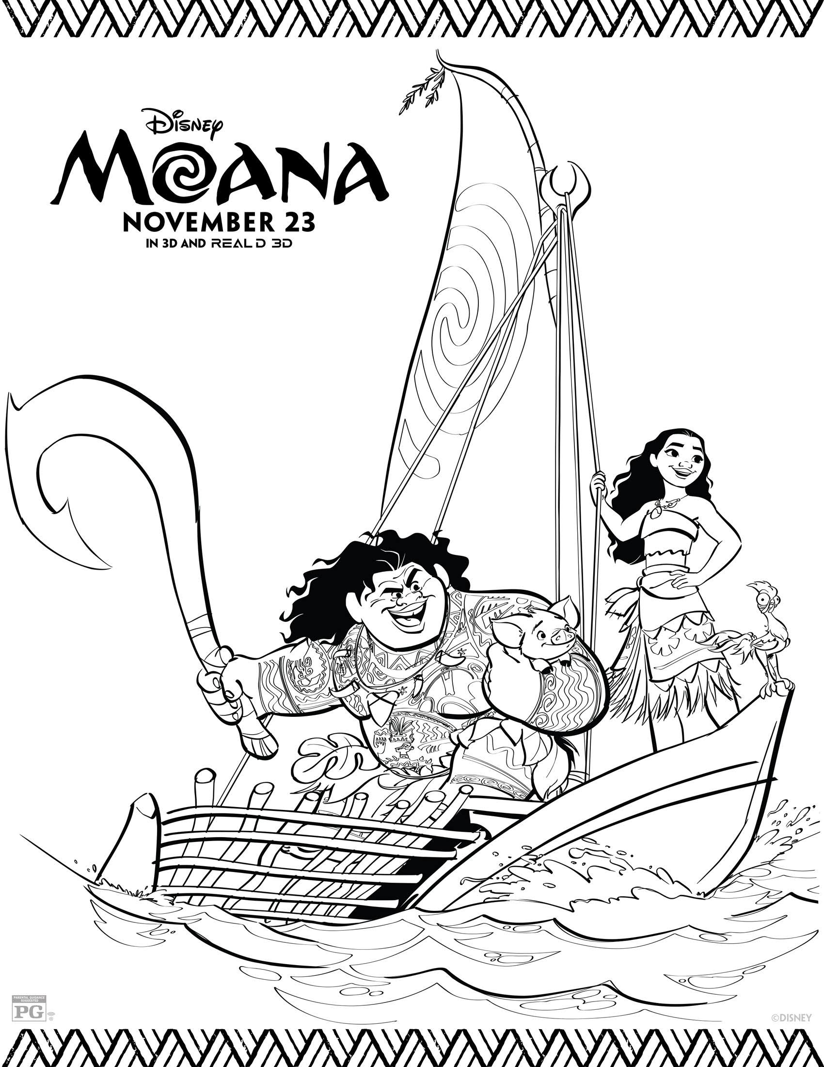 Best ideas about Moana Free Coloring Sheets . Save or Pin Disney s Moana Coloring Pages and Activity Sheets Printables Now.