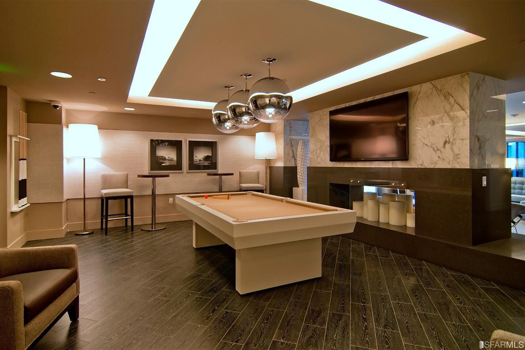 Best ideas about Modern Game Room . Save or Pin Modern Game Room with Pendant Light & Hardwood floors in Now.