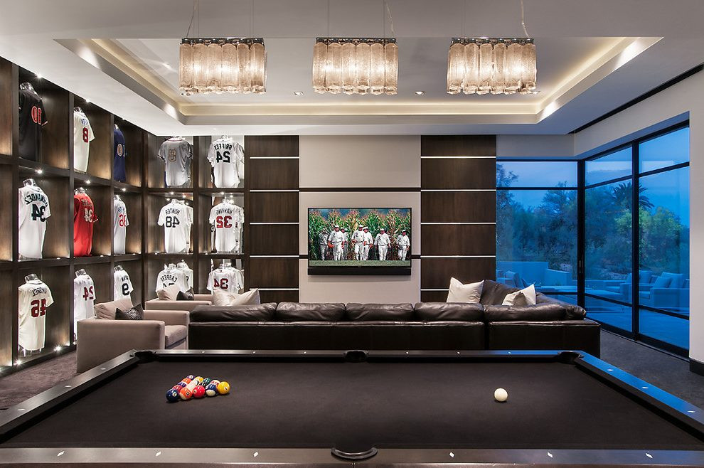 Best ideas about Modern Game Room . Save or Pin modern game room family room contemporary with game room Now.