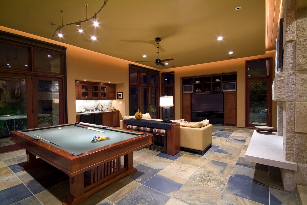 Best ideas about Modern Game Room . Save or Pin World of Architecture Spirit Lake Modern Hillside Home Now.