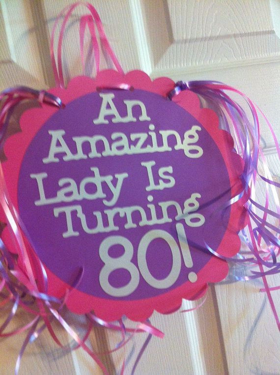 Best ideas about Mom's Birthday Ideas . Save or Pin 80Th Birthday Decorations Giant Personalized Party Signs Now.