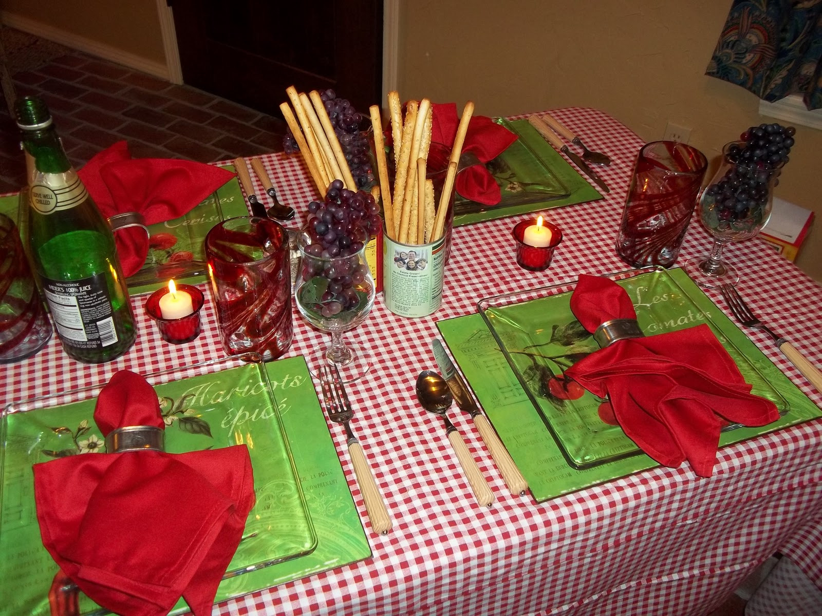 Best ideas about Mom's Birthday Ideas . Save or Pin The Posh Pixie Italian Table Setting Italian Dinner Now.