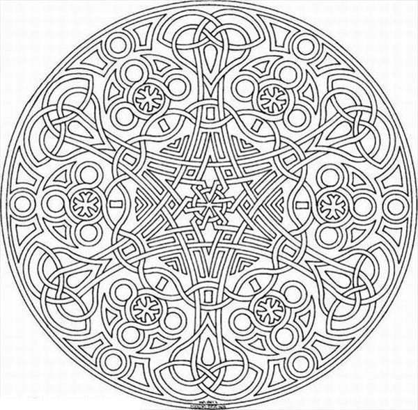 Best ideas about Mosaic Printable Coloring Pages . Save or Pin Mosaic Coloring Pages Bestofcoloring Now.