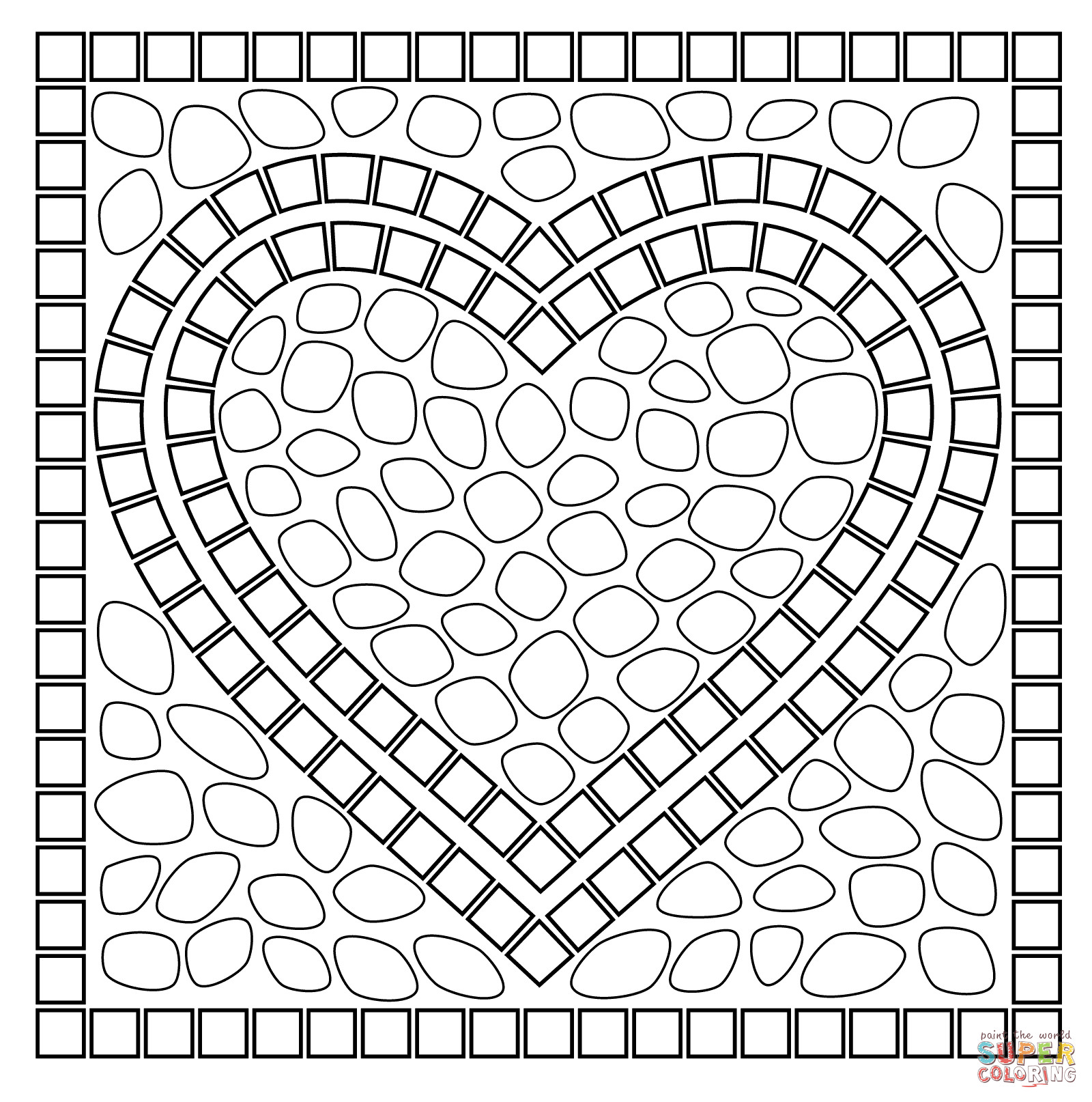 Best ideas about Mosaic Printable Coloring Pages . Save or Pin Mosaic Patterns Coloring Pages Coloring Home Now.