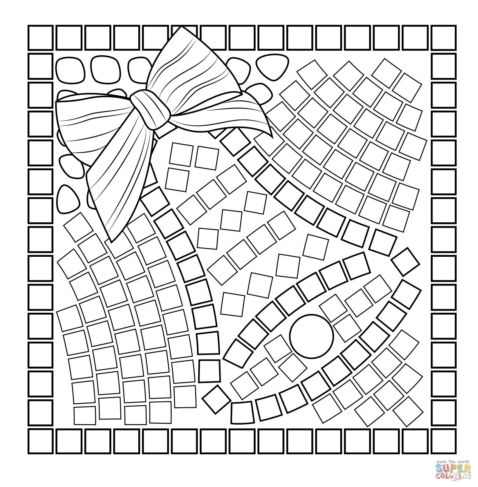 Best ideas about Mosaic Printable Coloring Pages . Save or Pin Mosaic Coloring Pages For Kids Coloring Home Now.