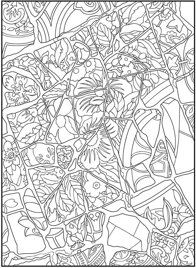 Best ideas about Mosaic Printable Coloring Pages . Save or Pin Mosaic Pattern Coloring Pages Gianfreda Now.