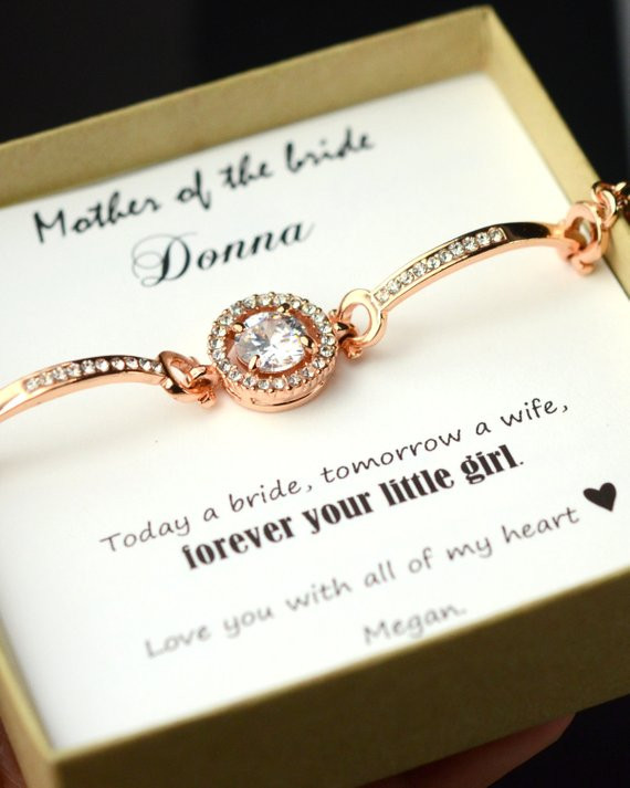 Best ideas about Mother Of Bride Gift Ideas . Save or Pin Wedding braceletMother of the Bride Gift Personalized Now.