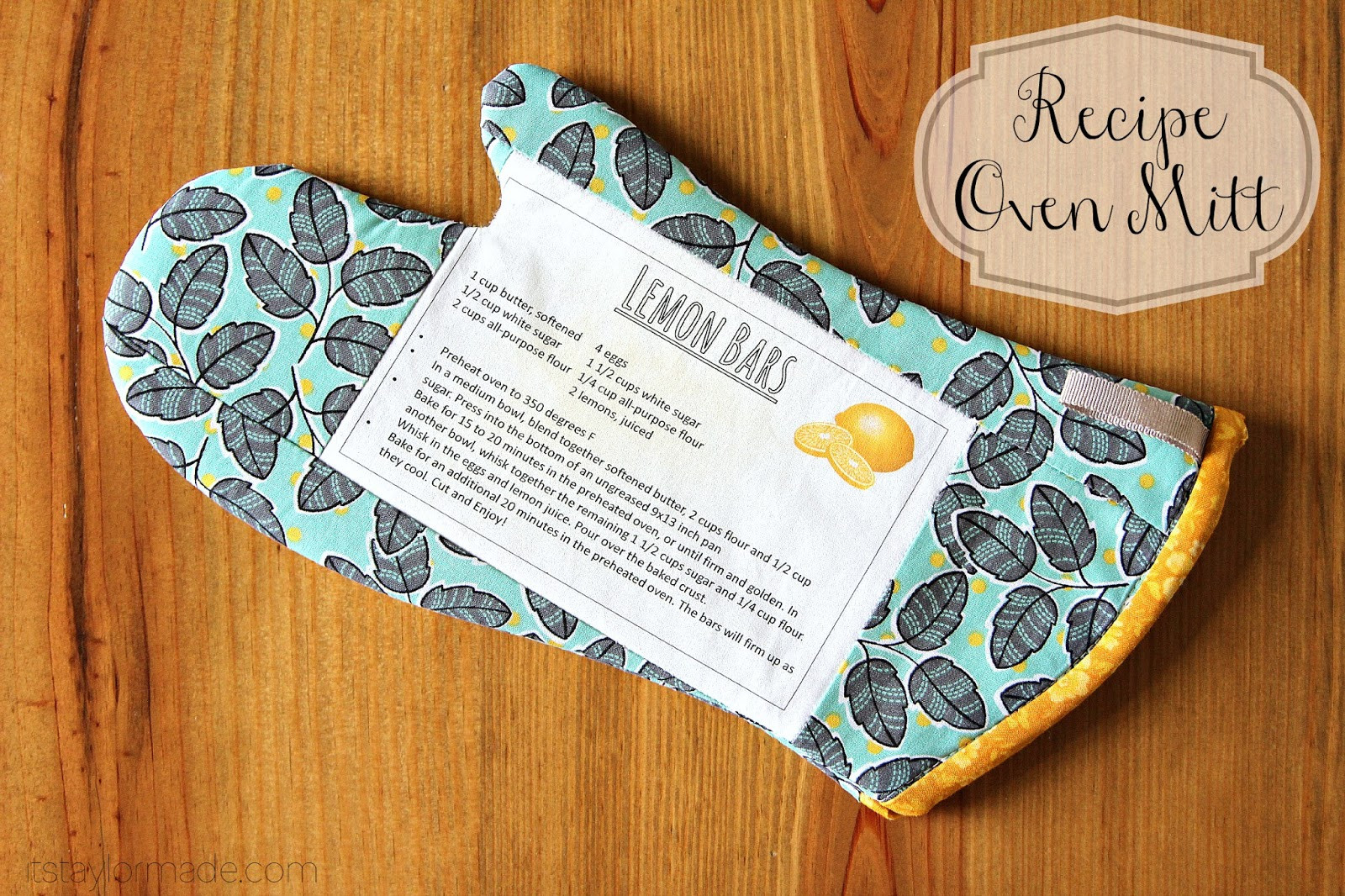 Best ideas about Mother'S Day Gift Ideas For Church . Save or Pin Handmade Mother s Day Recipe Oven Mitt TaylorMade Now.