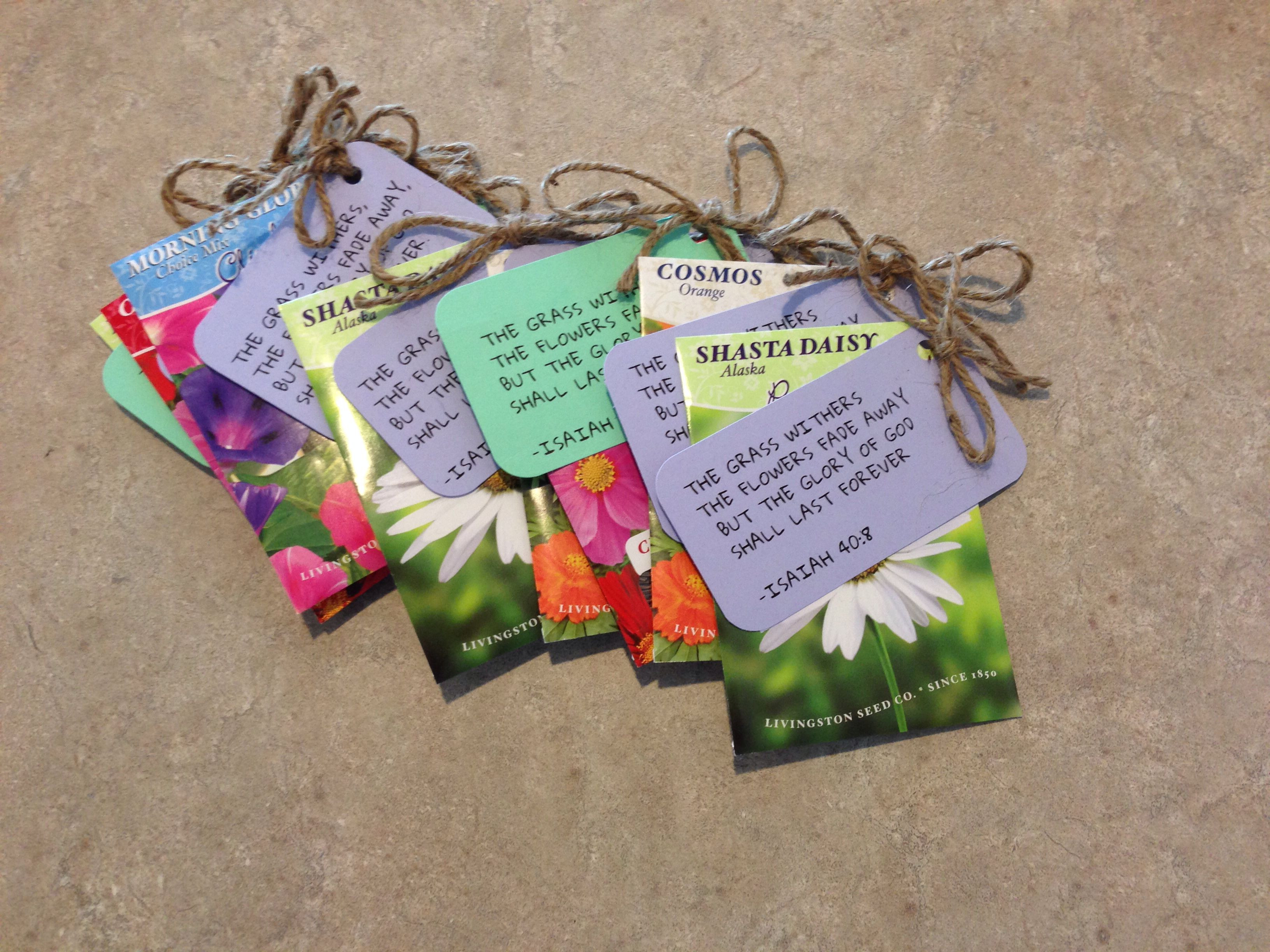 Best ideas about Mother'S Day Gift Ideas For Church Ladies . Save or Pin Seeds with bible verse tags Spring t ideas Now.