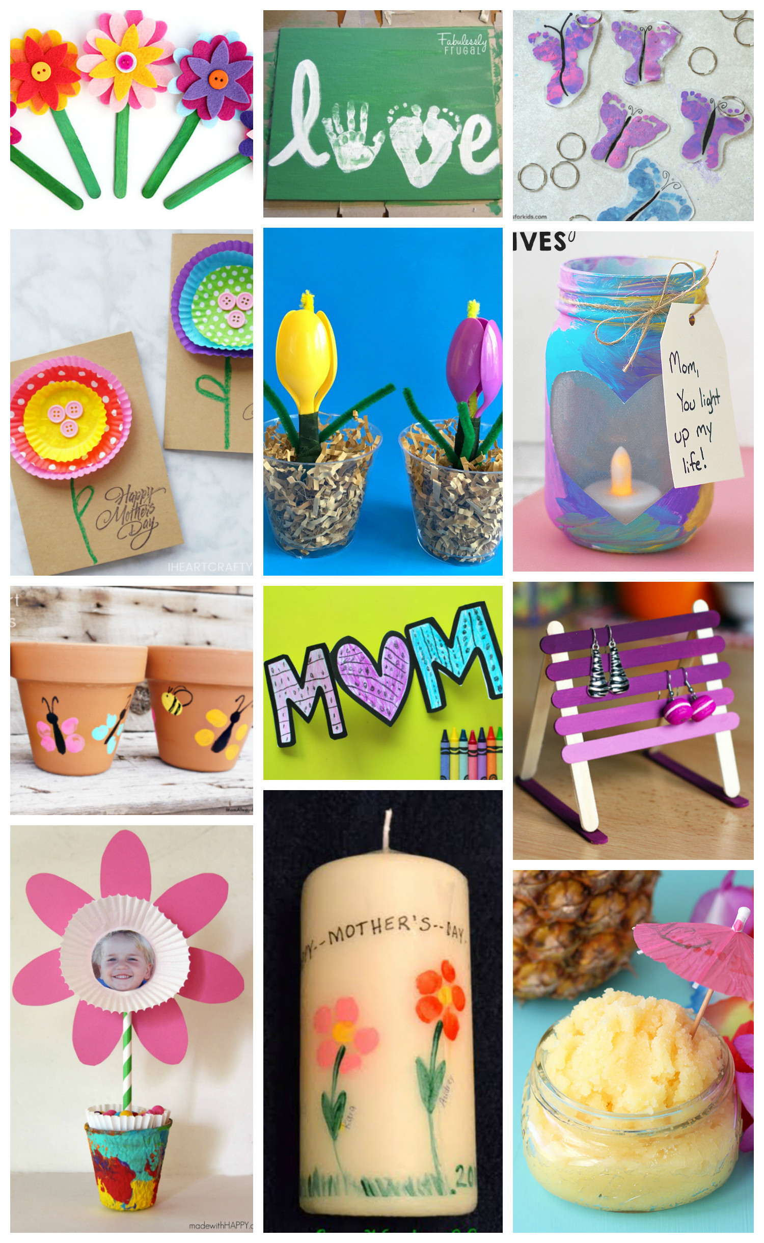 Best ideas about Mothers Day Craft Ideas For Kids . Save or Pin Easy Mother s Day Crafts for Kids Happiness is Homemade Now.