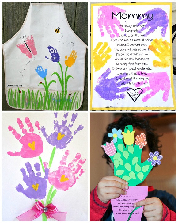 Best ideas about Mothers Day Craft Ideas For Kids . Save or Pin Mother s Day Handprint Crafts & Gift Ideas for Kids to Now.