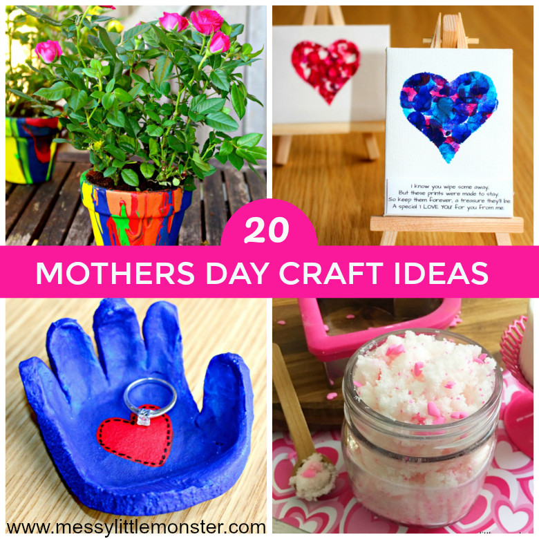 Best ideas about Mothers Day Craft Ideas For Kids . Save or Pin Mothers Day Craft Ideas Messy Little Monster Now.