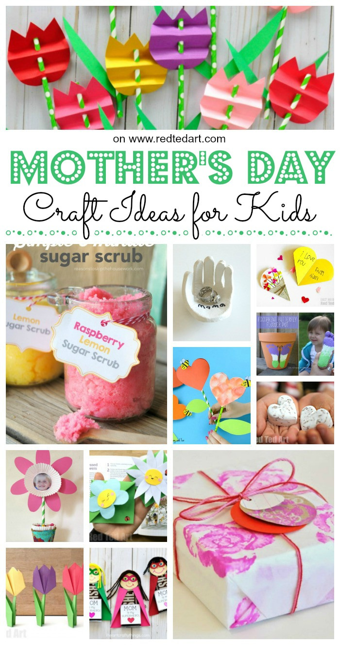Best ideas about Mothers Day Craft Ideas For Kids . Save or Pin Top Mother s Day Crafts for Kids Red Ted Art s Blog Now.