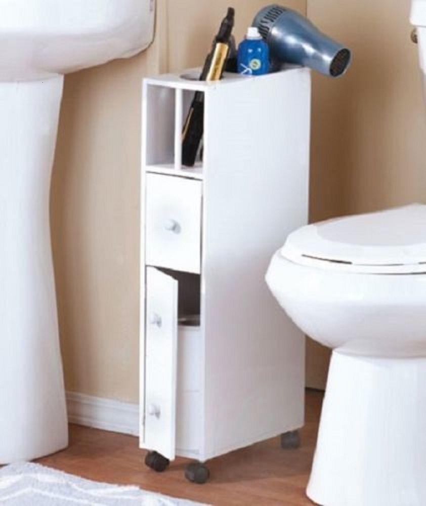Best ideas about Narrow Bathroom Storage . Save or Pin Bathroom storage cabinet narrow space saver cabinet w Now.