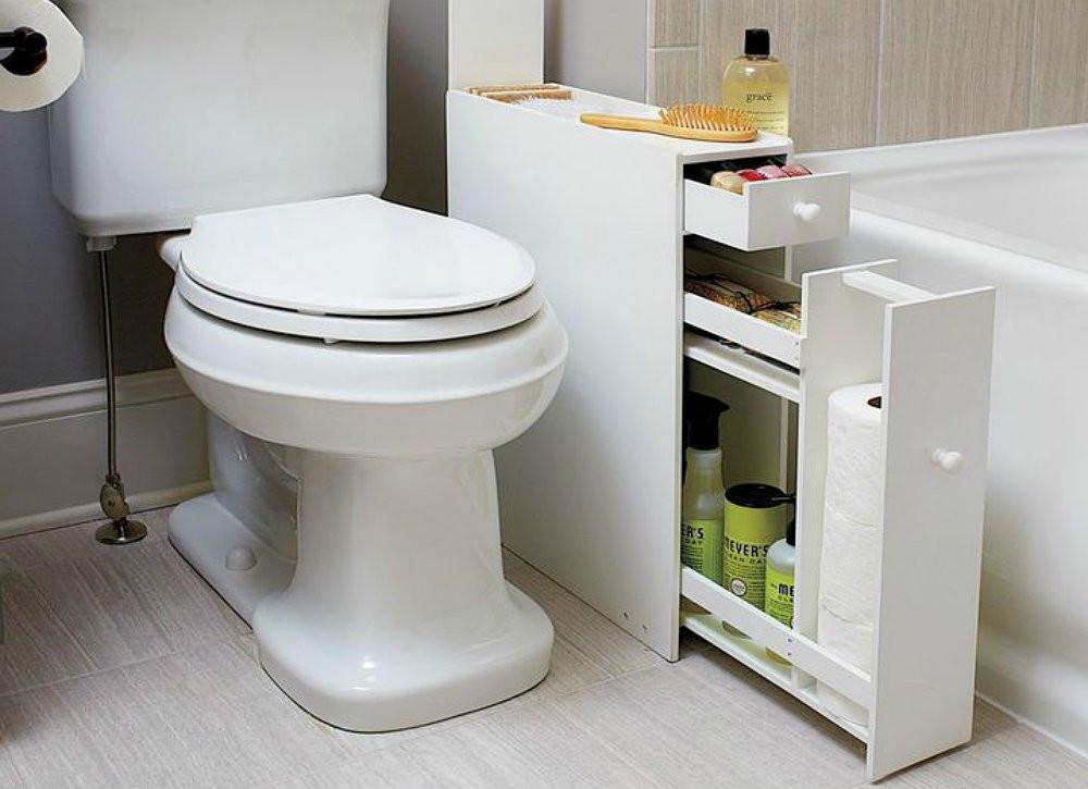 Best ideas about Narrow Bathroom Storage . Save or Pin Narrow Bathroom Cabinet Bathroom Storage Ideas 10 Now.