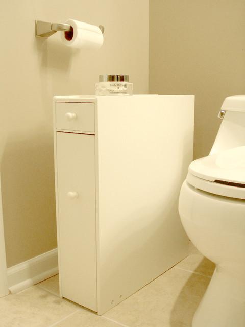 Best ideas about Narrow Bathroom Storage . Save or Pin Narrow Bathroom Floor Storage Bathroom Design Ideas Now.