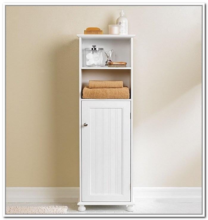 Best ideas about Narrow Bathroom Storage . Save or Pin Narrow Bathroom Cabinet Storage Now.
