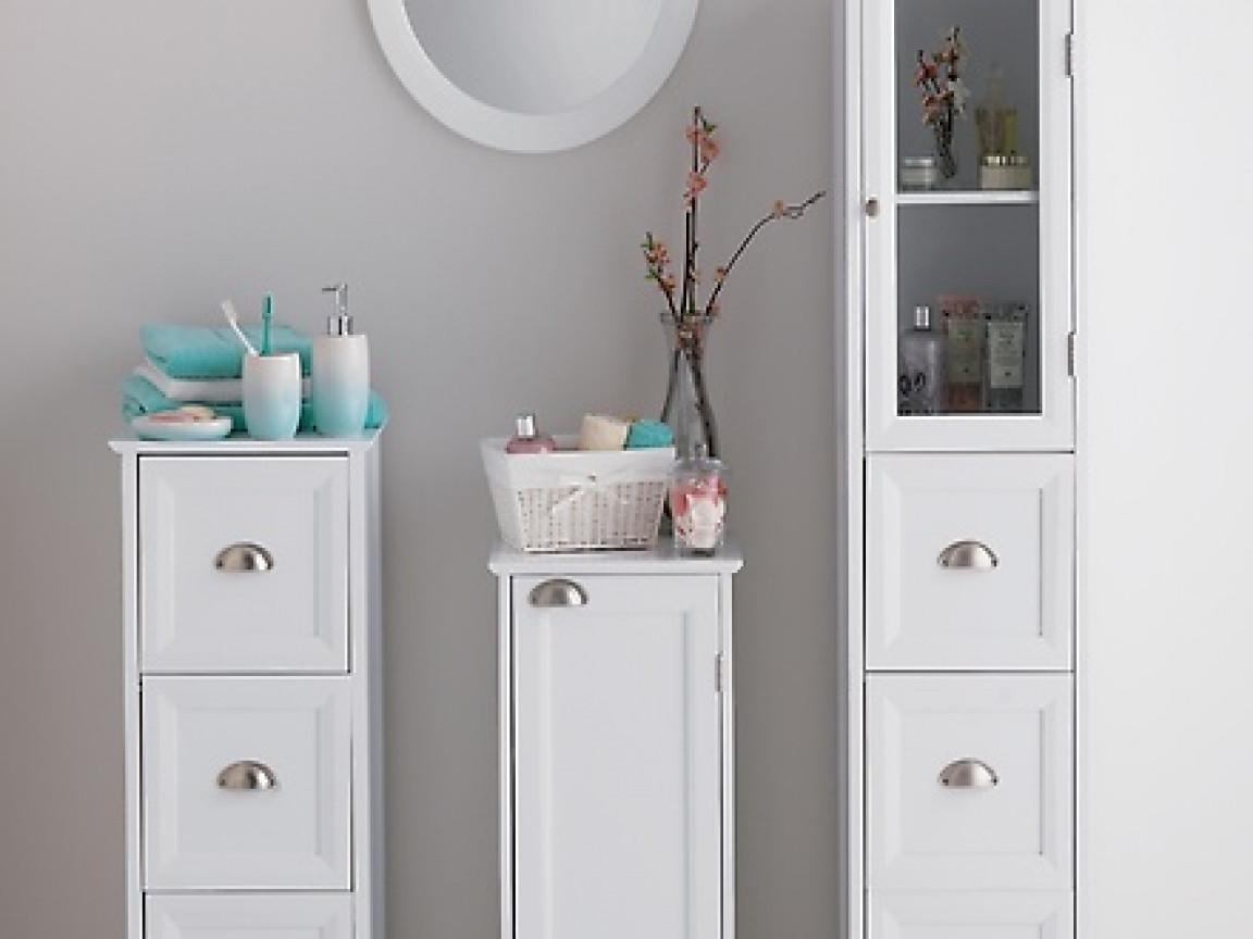 Best ideas about Narrow Bathroom Storage . Save or Pin White bathroom storage drawers narrow bathroom storage Now.