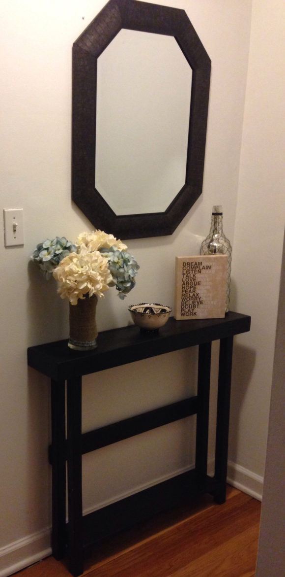 Best ideas about Narrow Entryway Table . Save or Pin Furniture Diy Reclaimed Wood Entryway Console Table Now.