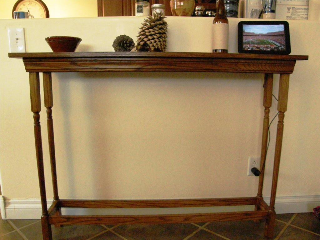 Best ideas about Narrow Entryway Table . Save or Pin Narrow Entryway Table White — STABBEDINBACK Foyer Now.