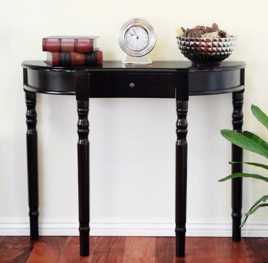 Best ideas about Narrow Entryway Table . Save or Pin Narrow Entryway Table Height — Home Design Decorate Now.