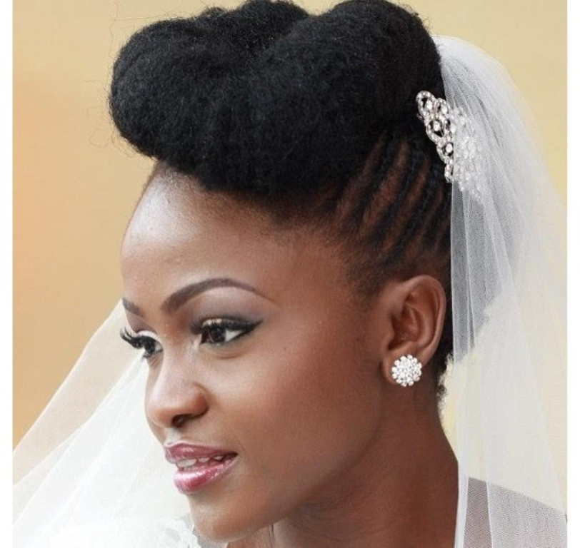 Best ideas about Natural Hairstyles For Weddings Black . Save or Pin 50 Best Wedding Hairstyles for Black Women 2018 Now.