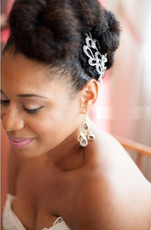 Best ideas about Natural Hairstyles For Weddings Black . Save or Pin black wedding hairstyles with natural hair Hollywood Now.