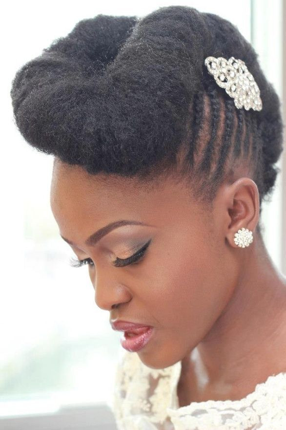 Best ideas about Natural Hairstyles For Weddings Black . Save or Pin 15 Awesome Wedding Hairstyles for Black Women Pretty Designs Now.