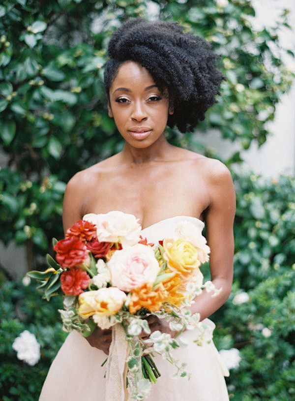 Best ideas about Natural Hairstyles For Weddings Black . Save or Pin 7 Superb Natural Hair Bridal Hairstyles for Summer Weddings Now.