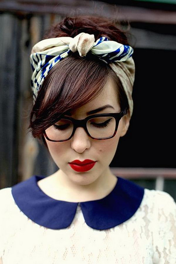 Best ideas about Nerd Hairstyle For Girls . Save or Pin 25 Cool Hairstyles with Headbands for Girls Hative Now.