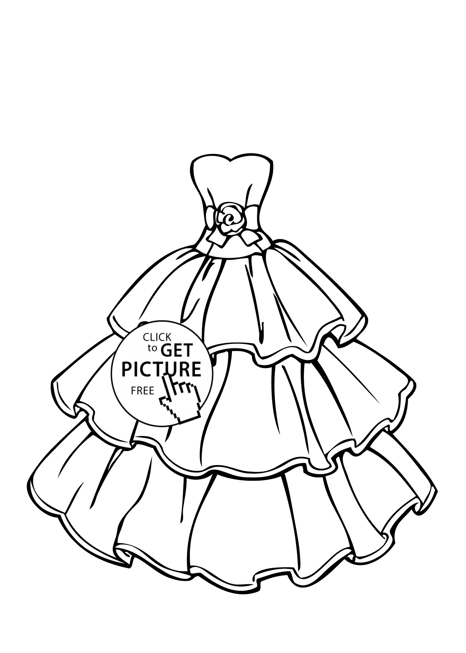 Best ideas about New Coloring Pages For Girls . Save or Pin Free Dress Coloring Pages Printable Now.