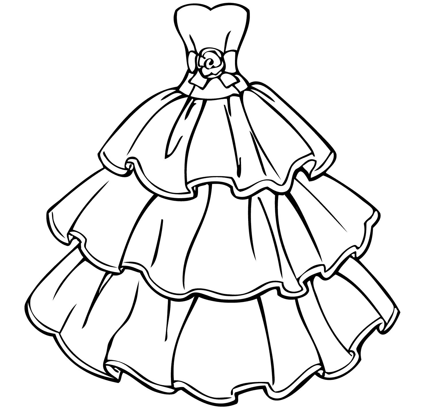 Best ideas about New Coloring Pages For Girls . Save or Pin Wedding Dress Coloring Pages Collection Free Coloring Books Now.