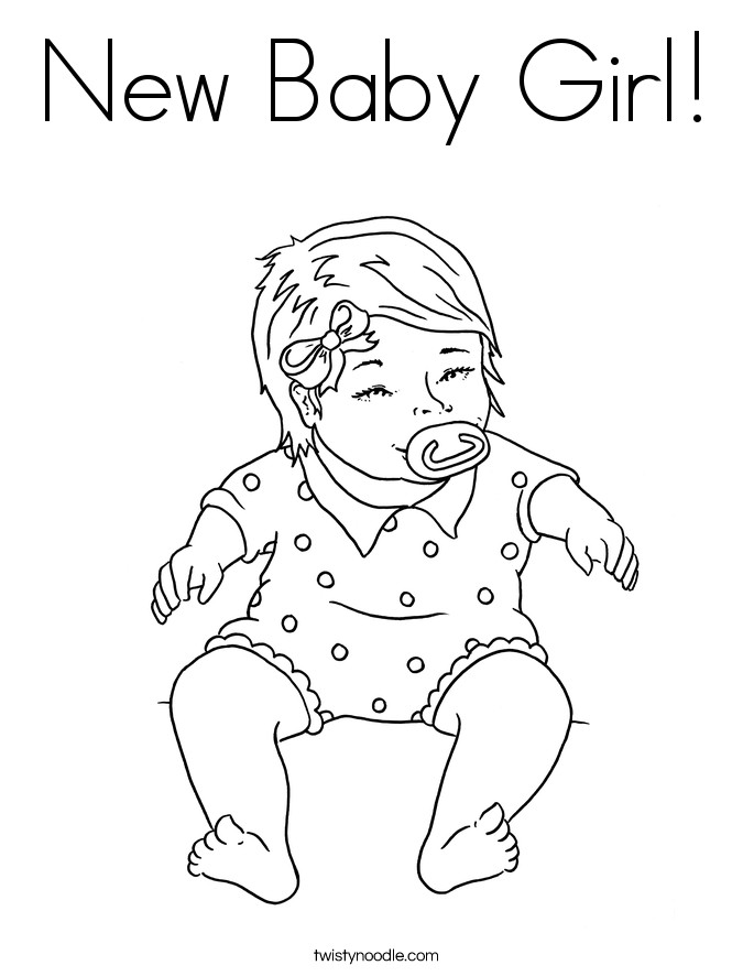 Best ideas about New Coloring Pages For Girls . Save or Pin new baby coloring pages Now.