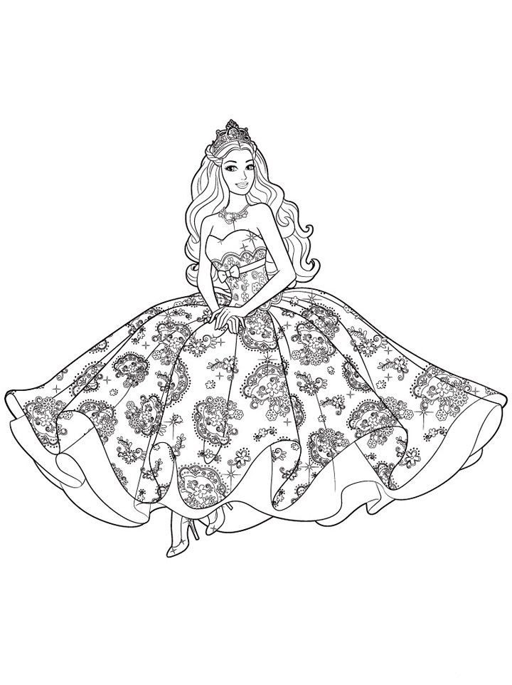 Best ideas about New Coloring Pages For Girls . Save or Pin New Barbie coloring pages for girls Now.