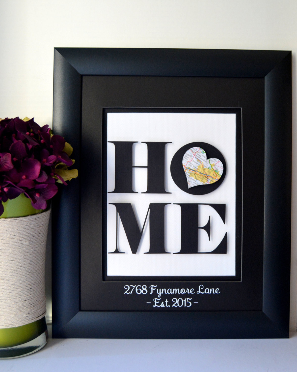 Best ideas about New Home Gift Ideas . Save or Pin Unique Housewarming Gift New Home Address Art by Now.