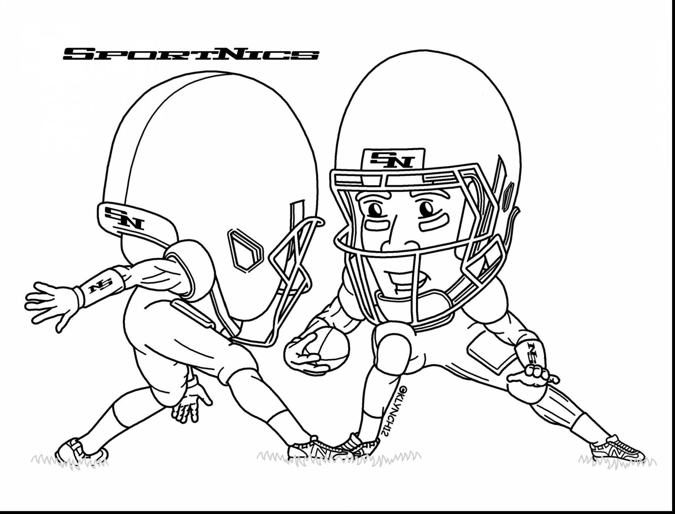 Best ideas about Nfl Coloring Book . Save or Pin Best Football Player Coloring Pages – advance thun Now.