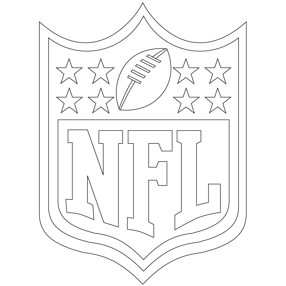 Best ideas about Nfl Coloring Book . Save or Pin Free Printable Football Coloring Pages for Kids Best Now.