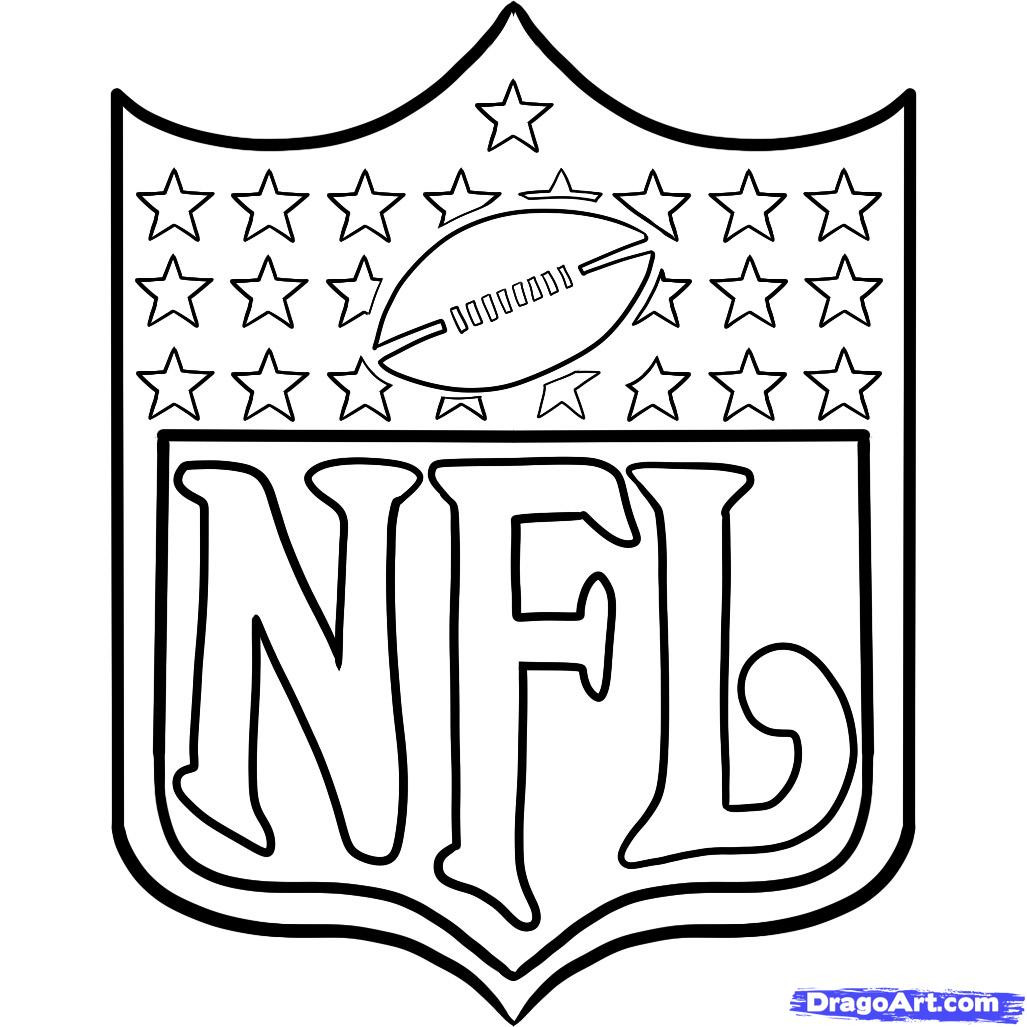 Best ideas about Nfl Coloring Book . Save or Pin butterfly wings tattoo nfl logo coloring pages Now.