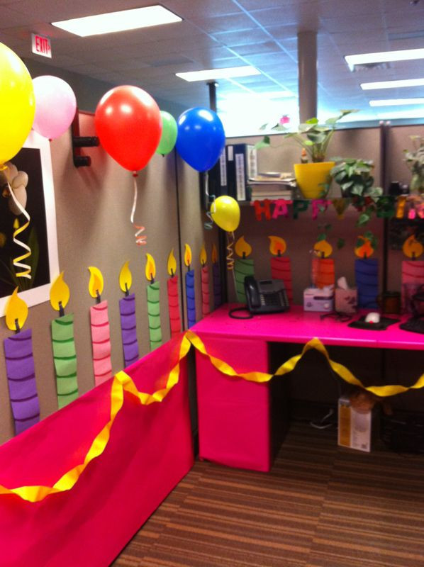Best ideas about Office Birthday Decorations . Save or Pin Just as the title implies this cube was transformed into Now.