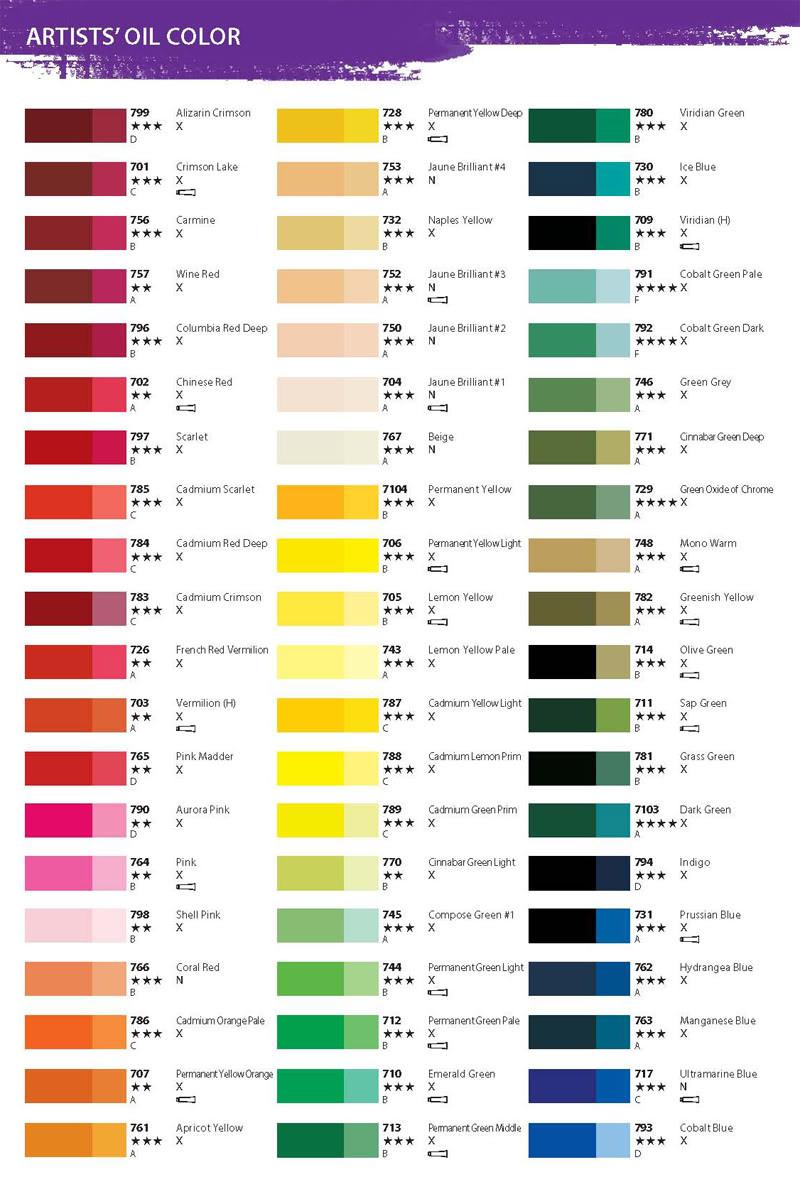 Best ideas about Oil Paint Colors . Save or Pin Shinhan artist grade Oil paint 36 colors X 20ml Oil color Now.
