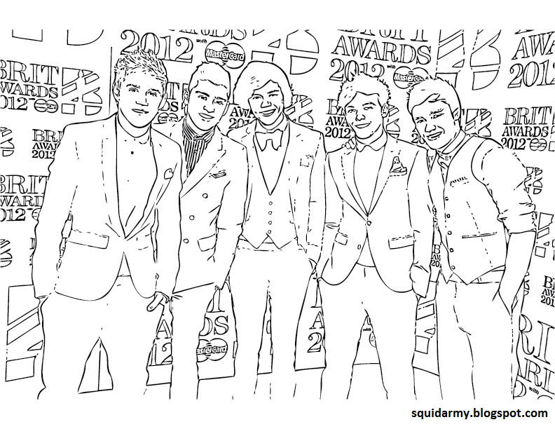 Best ideas about One Direction Free Coloring Pages . Save or Pin e Direction Coloring Pages Squid Army Now.